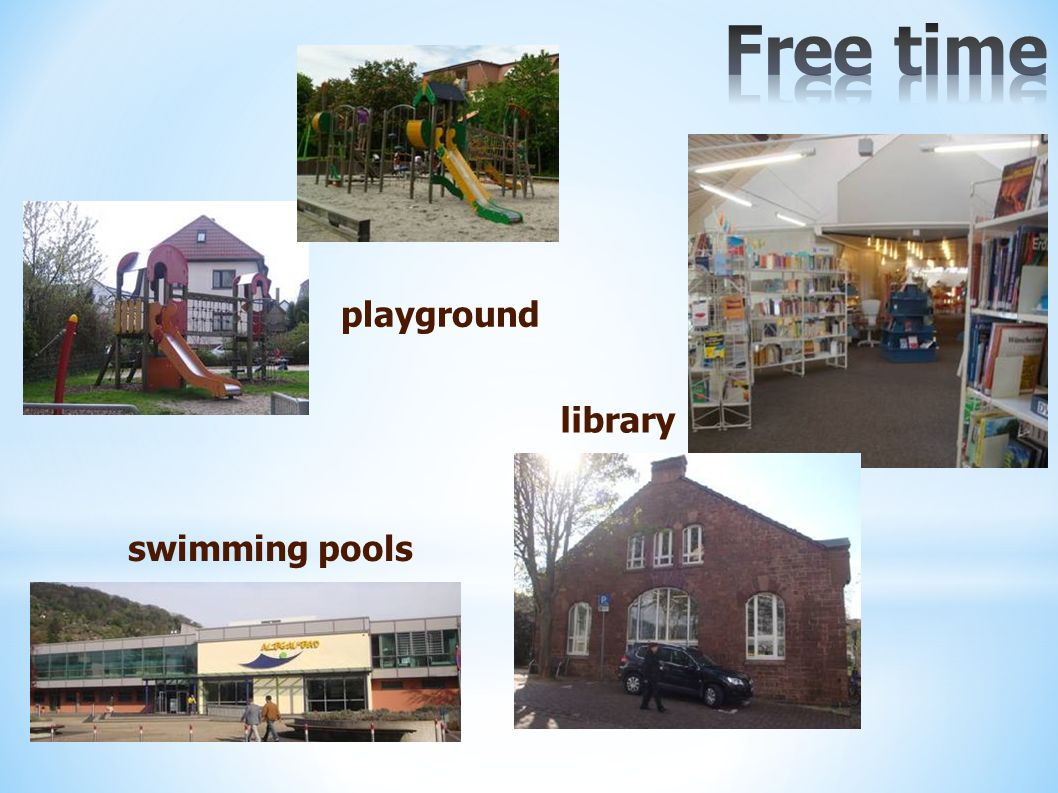 playground swimming pools library