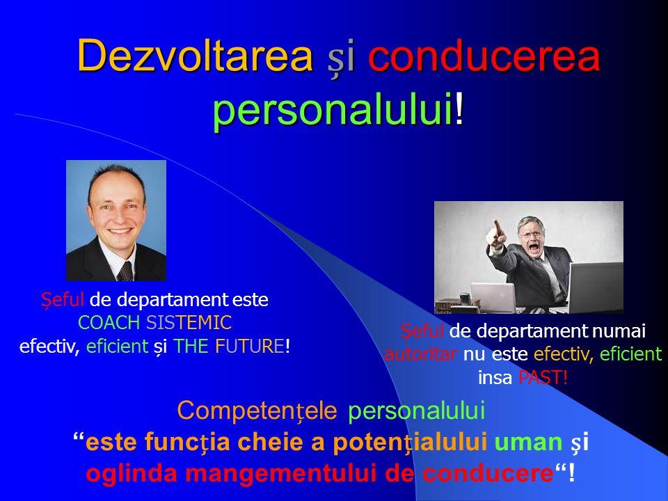 """Dezvoltarea i conducerea personalului! Competenele personalului """"este funcia cheie a potenialului uman i oglinda mangementului de conducere""""! Șeful de"""