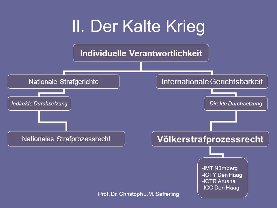 Prof. Dr. Christoph J.M. Safferling III. Die neue Weltordnung