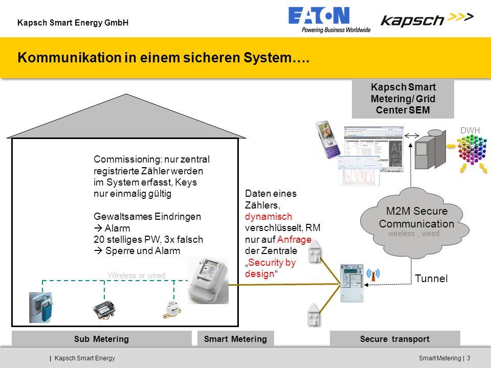 Kapsch Smart Energy GmbH ||Kapsch Smart EnergySmart Metering3 Kommunikation in einem sicheren System…. Kapsch Smart Metering/ Grid Center SEM Sub Mete