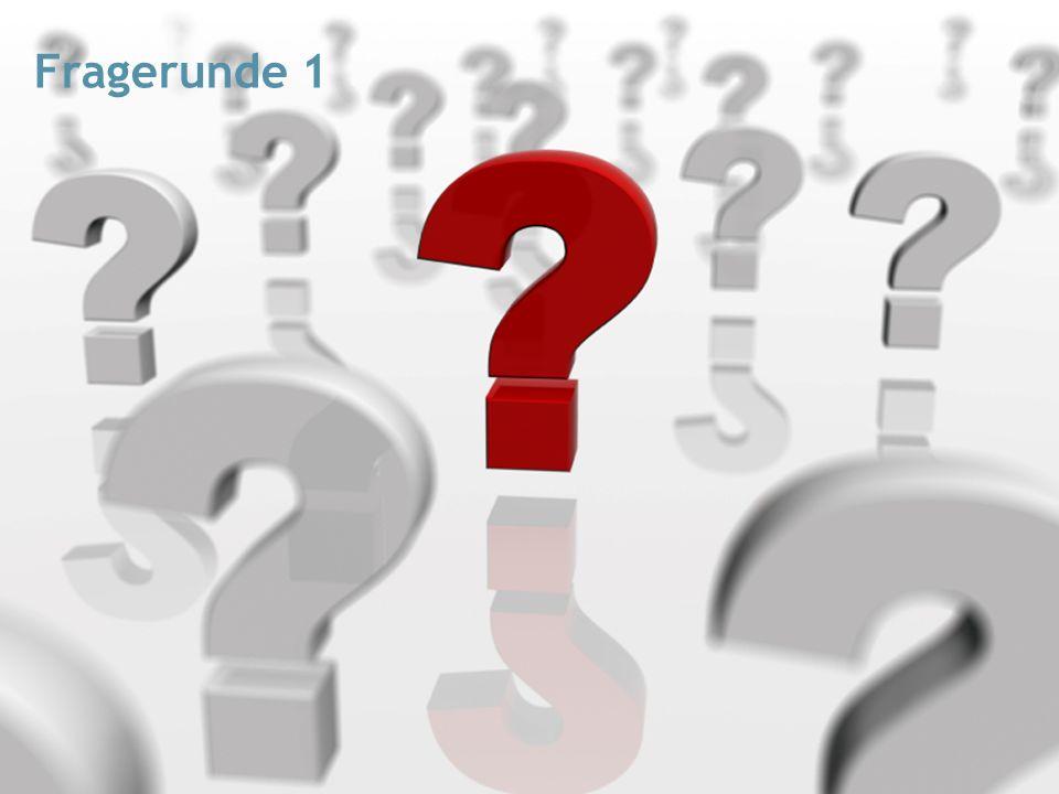 Fragerunde 1