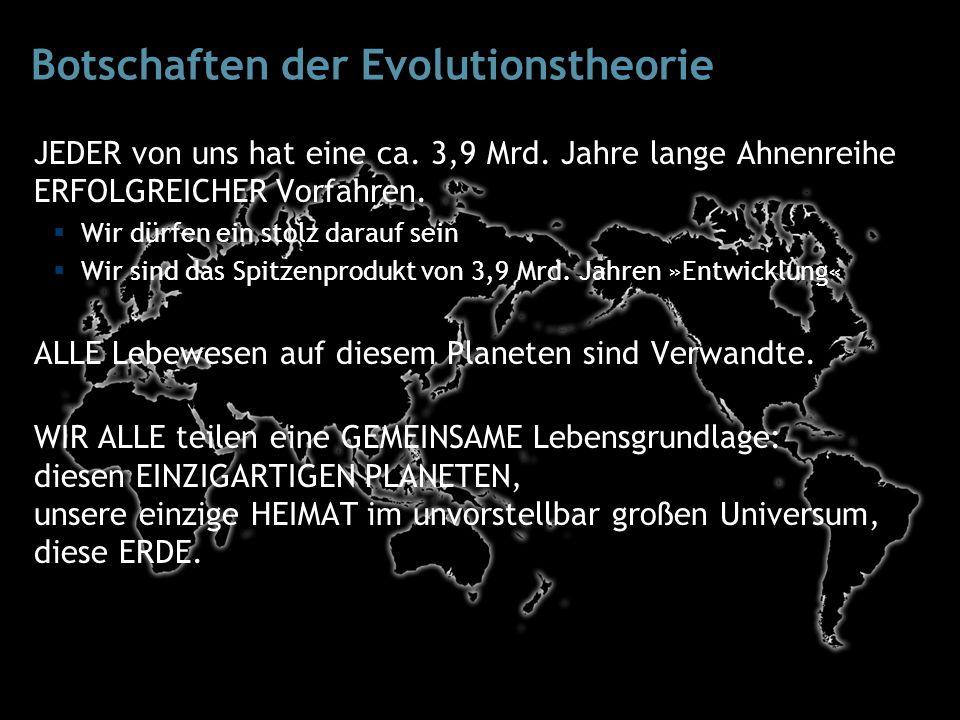 JEDER von uns hat eine ca. 3,9 Mrd. Jahre lange Ahnenreihe ERFOLGREICHER Vorfahren.