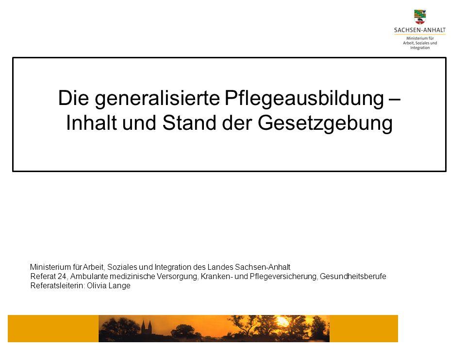 Ministerium für Arbeit, Soziales und Integration des Landes Sachsen-Anhalt Referat 24, Ambulante medizinische Versorgung, Kranken- und Pflegeversicher