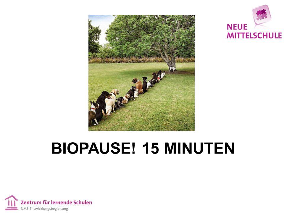 BIOPAUSE! 15 MINUTEN
