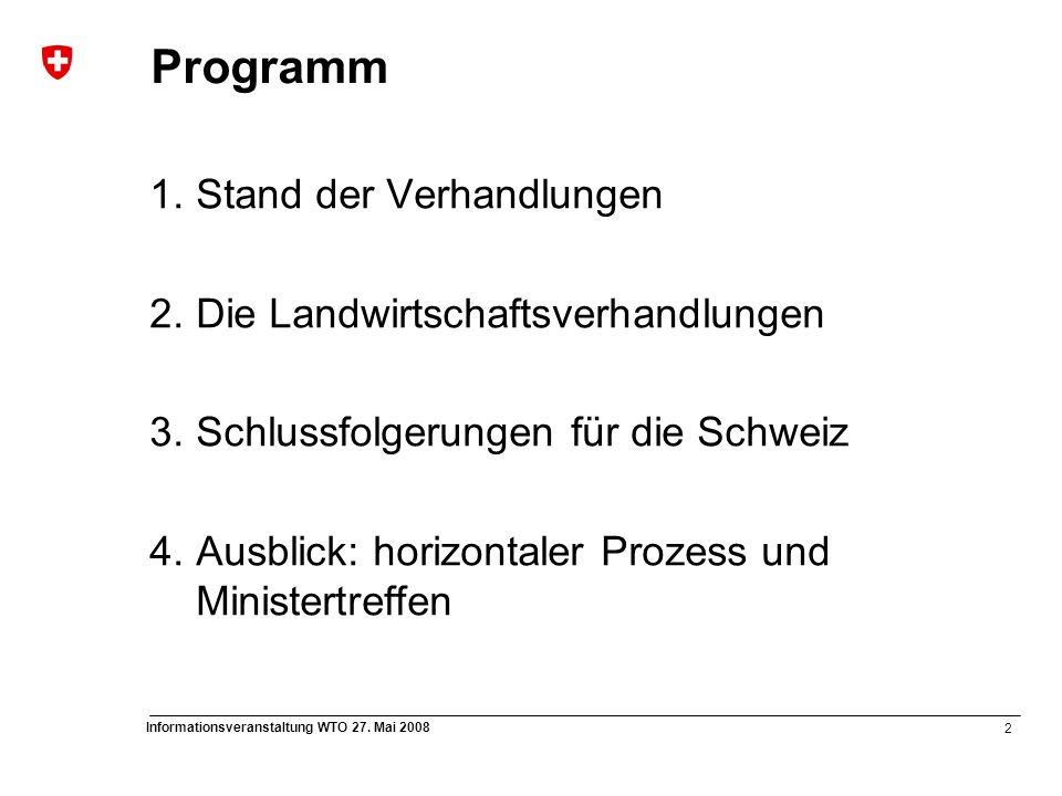 13 Informationsveranstaltung WTO 27.