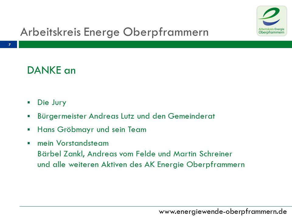 www.energiewende-oberpframmern.de 8 Vielen Dank für Ihre Aufmerksamkeit.