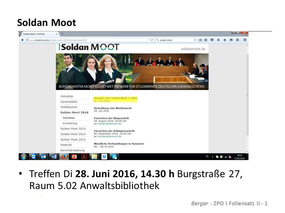 Soldan Moot Treffen Di 28.