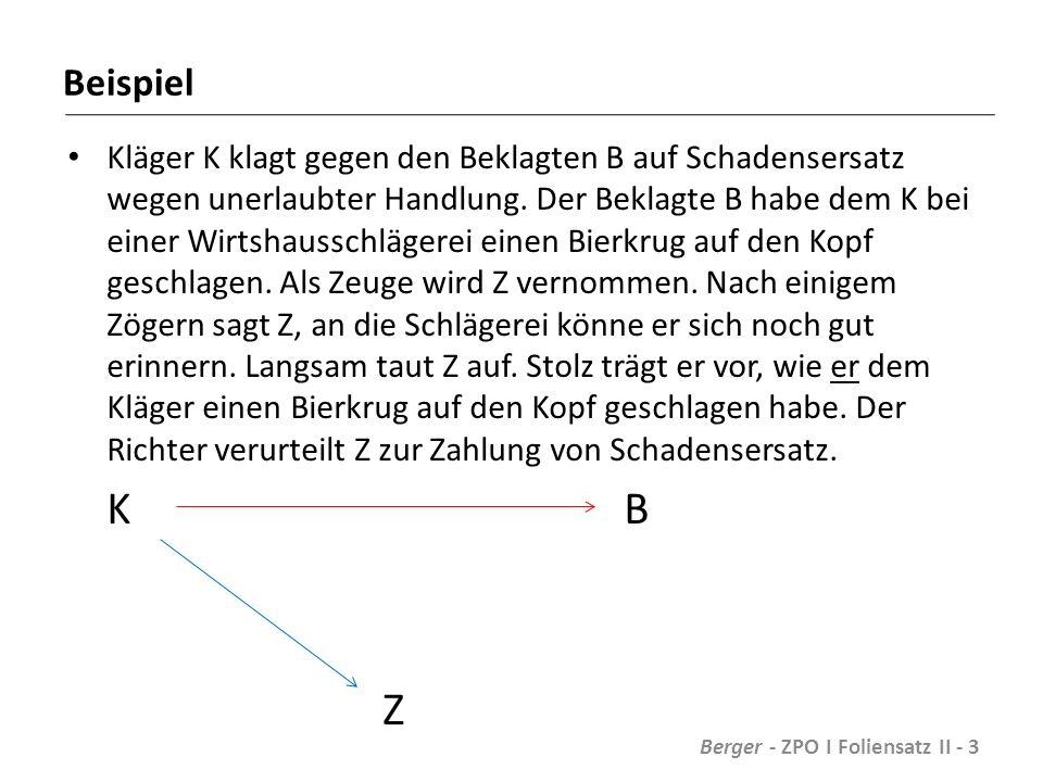 Prozessuale Dispositionshandlung Beispiel: K klagt gegen B auf Kaufpreiszahlung von 20.000 Euro.