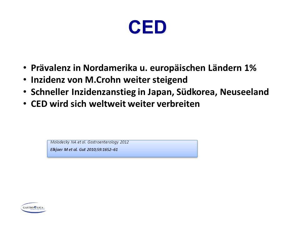 CED Molodecky NA et al.Gastroenterology 2012 Elkjaer M et al.