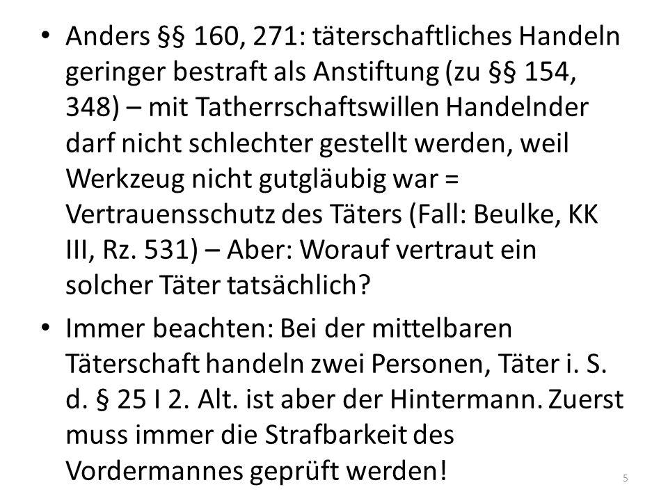Exkurs: Wesen des Strafrechts Reaktion auf begangene Taten Prinzip: Minority Report.