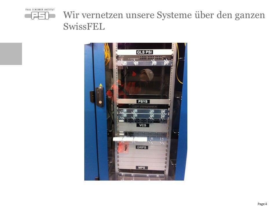 Wir vernetzen unsere Systeme über den ganzen SwissFEL Page 4