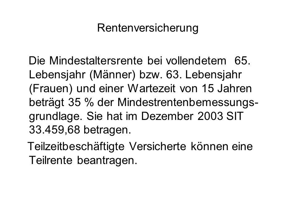 Rentenversicherung Die Mindestaltersrente bei vollendetem 65.