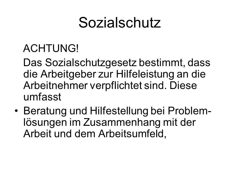Sozialschutz ACHTUNG.