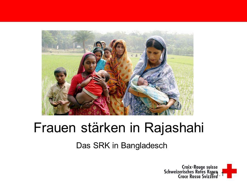 Das SRK in Bangladesch # 1.1 Frauen stärken in Rajashahi