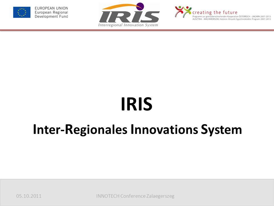 05.10.2011INNOTECH Conference Zalaegerszeg IRIS I nter- R egionales I nnovations S ystem
