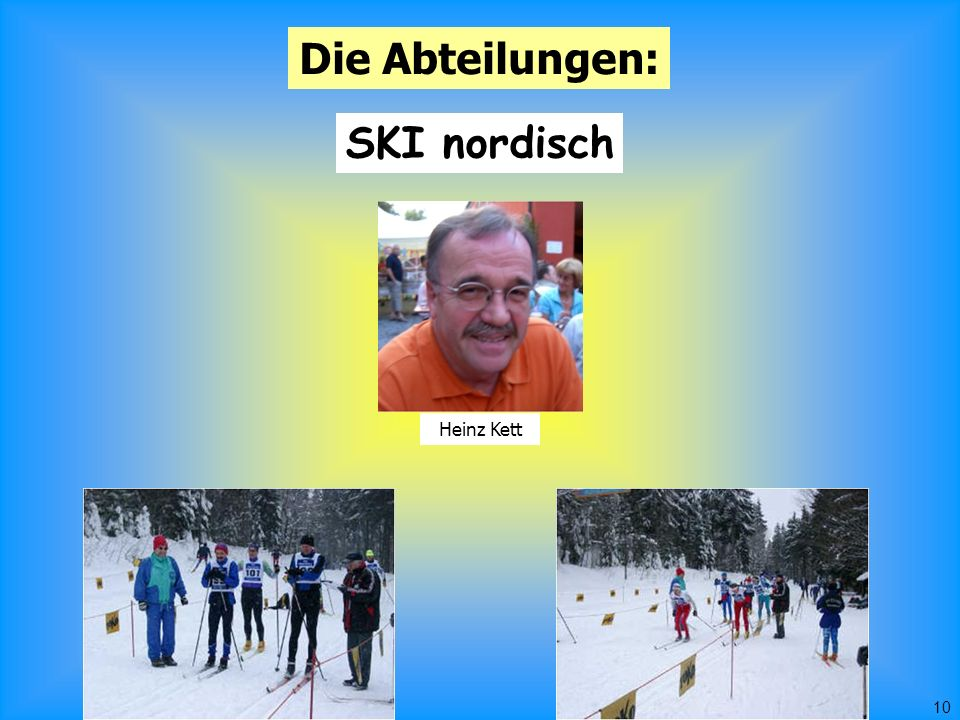 10 Die Abteilungen: SKI nordisch Heinz Kett