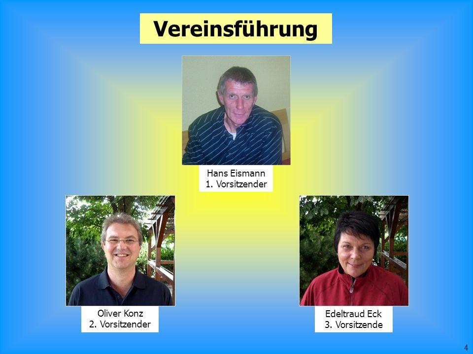4 Vereinsführung Hans Eismann 1. Vorsitzender Oliver Konz 2.