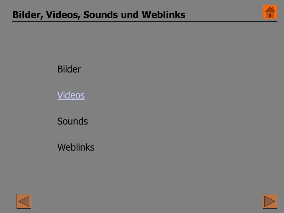 Bilder, Videos, Sounds und Weblinks Bilder Videos Sounds Weblinks