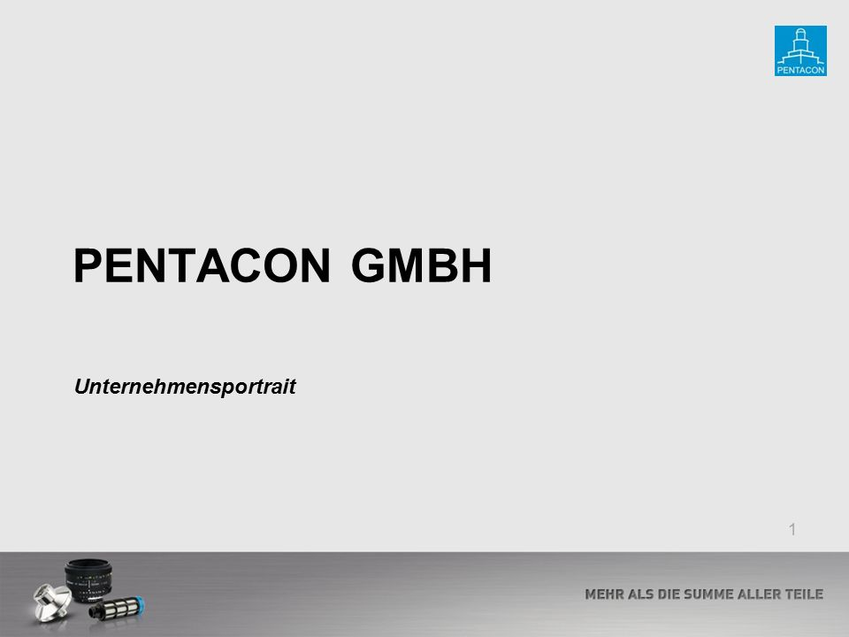 PENTACON GMBH Unternehmensportrait 1