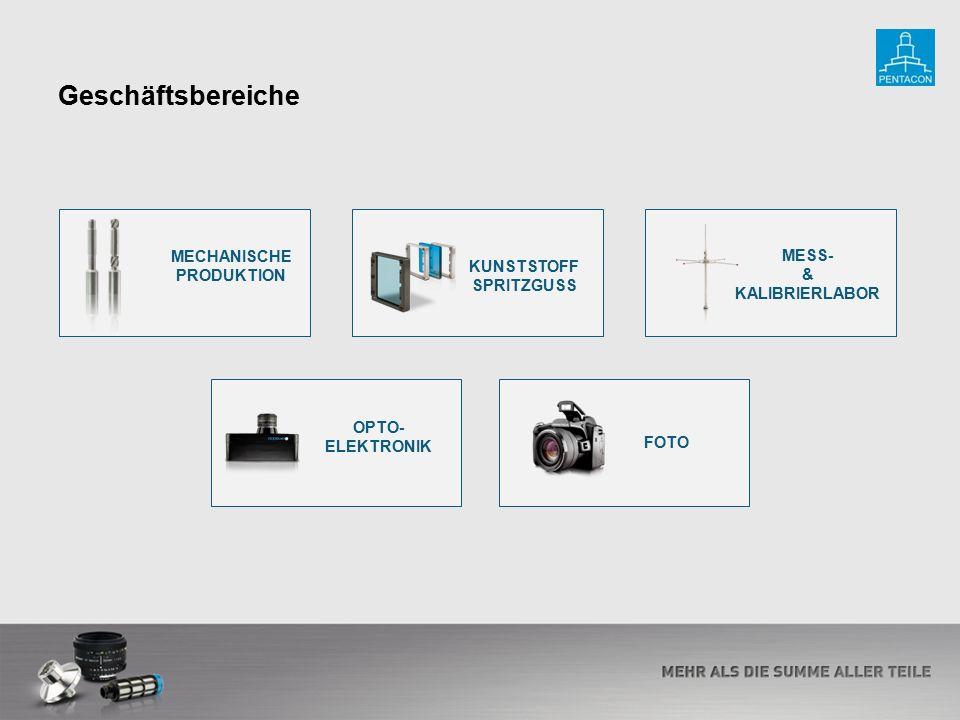 KUNSTSTOFF SPRITZGUSS MESS- & KALIBRIERLABOR OPTO- ELEKTRONIK Geschäftsbereiche FOTO MECHANISCHE PRODUKTION