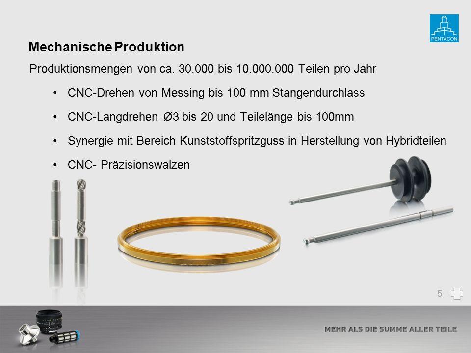 Mechanische Produktion Produktionsmengen von ca. 30.000 bis 10.000.000 Teilen pro Jahr CNC-Drehen von Messing bis 100 mm Stangendurchlass CNC-Langdreh