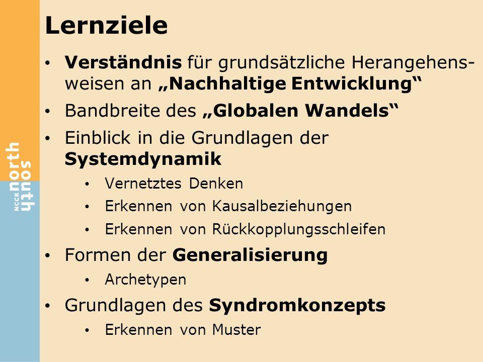 """Bisher 16 Syndrome in 3 Gruppen identifiziert: Syndrome des Globalen Wandels Syndromgruppe """"Nutzung unangepassten Nutzung von Naturressourcen als Produktionsfaktoren Syndromgruppe """"Entwicklung Mensch-Umwelt-Probleme aus nicht-nachhaltigen Entwicklungsprozessen"""