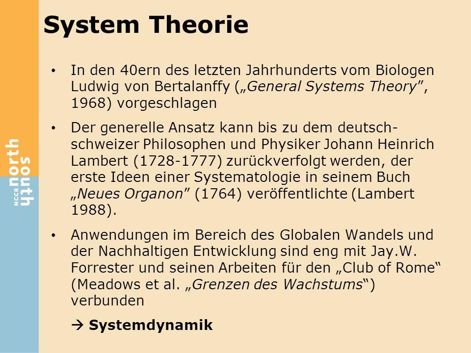 """In den 40ern des letzten Jahrhunderts vom Biologen Ludwig von Bertalanffy (""""General Systems Theory"""", 1968) vorgeschlagen Der generelle Ansatz kann bis"""