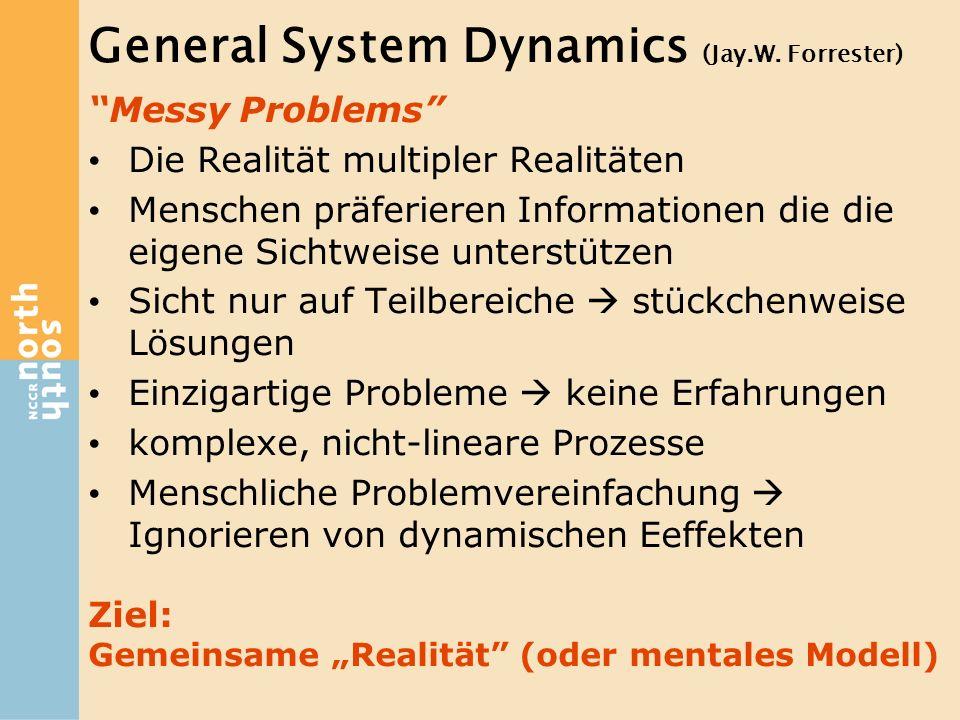 """""""Messy Problems"""" Die Realität multipler Realitäten Menschen präferieren Informationen die die eigene Sichtweise unterstützen Sicht nur auf Teilbereich"""