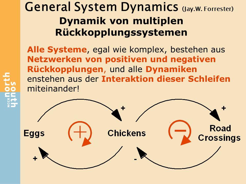Dynamik von multiplen Rückkopplungssystemen Alle Systeme, egal wie komplex, bestehen aus Netzwerken von positiven und negativen Rückkopplungen, und al