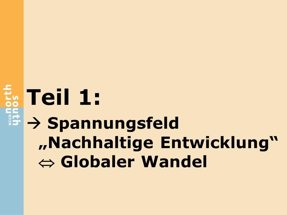 "Teil 1:  Spannungsfeld ""Nachhaltige Entwicklung""  Globaler Wandel"