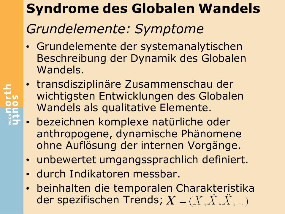 Grundelemente: Symptome Grundelemente der systemanalytischen Beschreibung der Dynamik des Globalen Wandels. transdisziplinäre Zusammenschau der wichti