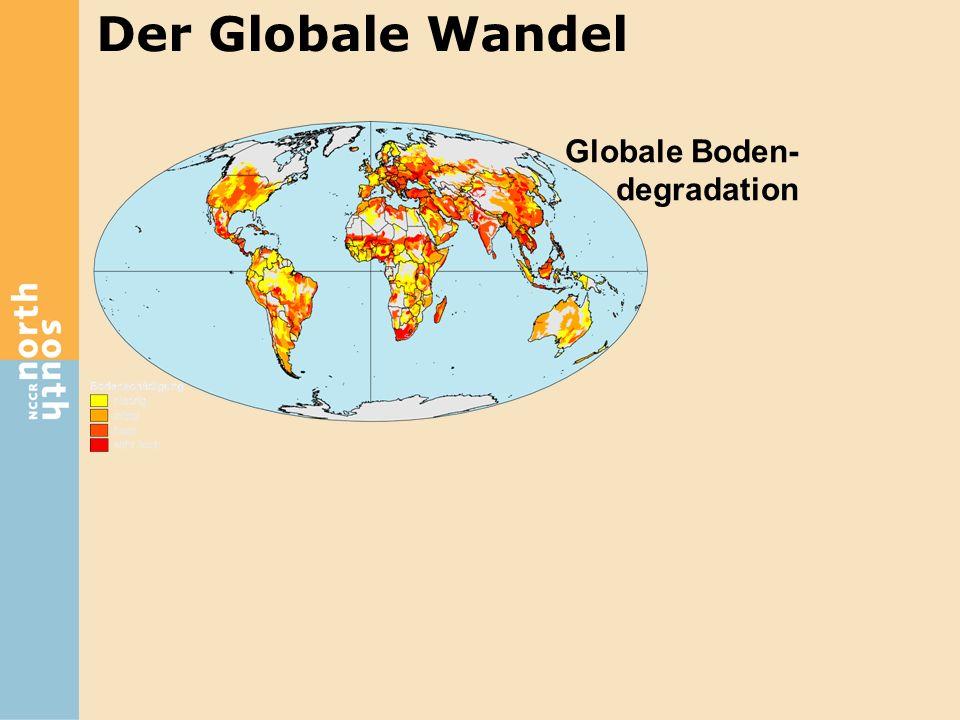 Globale Boden- degradation Zunahme der ländlichen Armut Der Globale Wandel