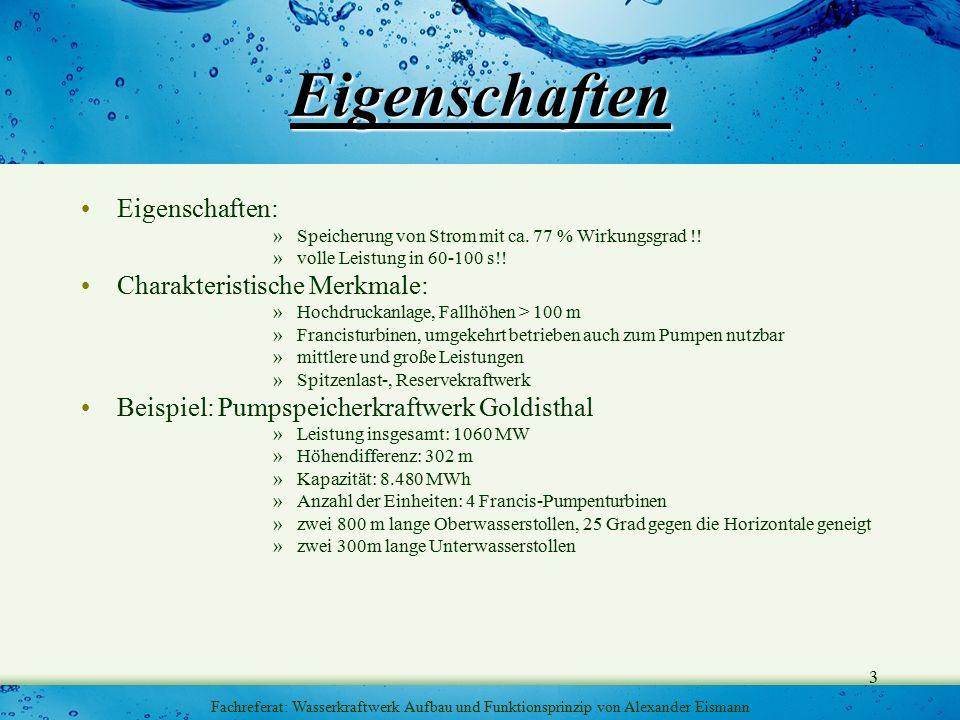 4 Fachreferat: Wasserkraftwerk Aufbau und Funktionsprinzip von Alexander Eismann Aufbau&Funktionsprinzip Quelle: http://www.strom-online.ch Potentielle Energie Kinetische Energie Elektrische Energie Rotations Energie