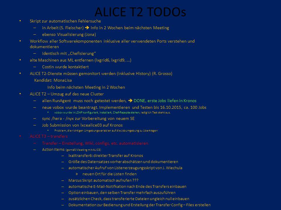ALICE T2 TODOs Skript zur automatischen Fehlersuche – in Arbeit (S.