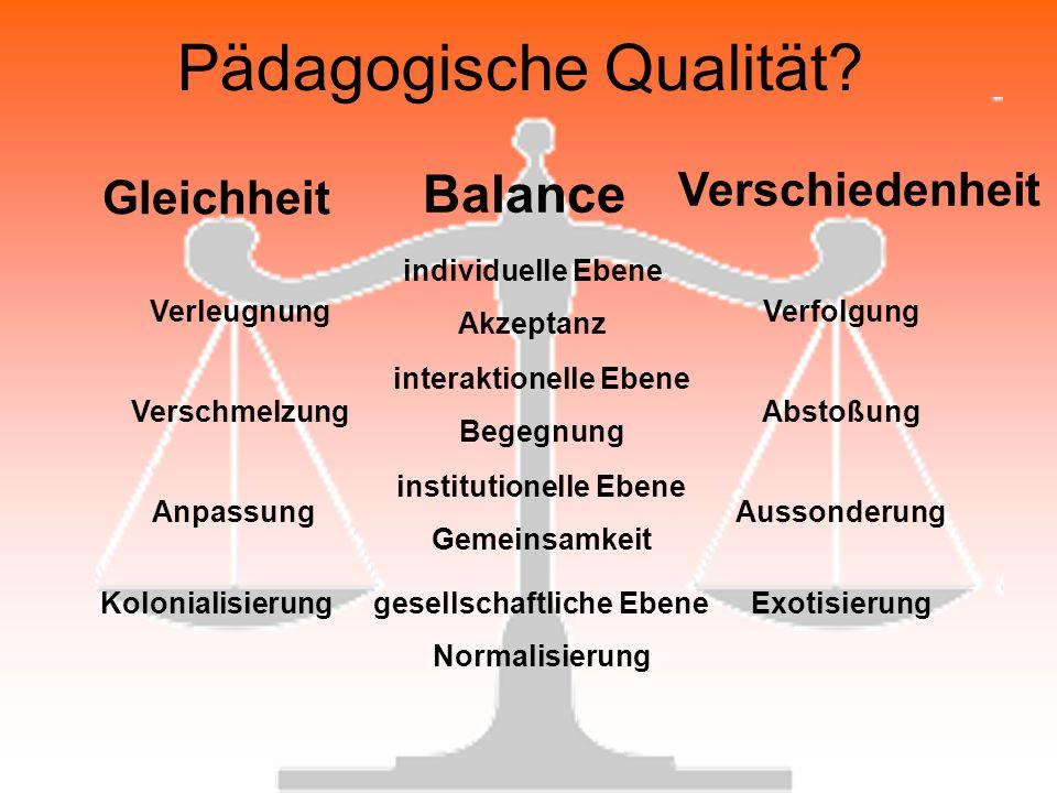 Pädagogische Qualität.