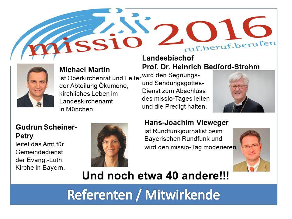 Michael Martin ist Oberkirchenrat und Leiter der Abteilung Ökumene, kirchliches Leben im Landeskirchenamt in München. Gudrun Scheiner- Petry leitet da