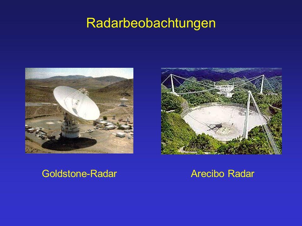 Radarbeobachtungen Goldstone-RadarArecibo Radar