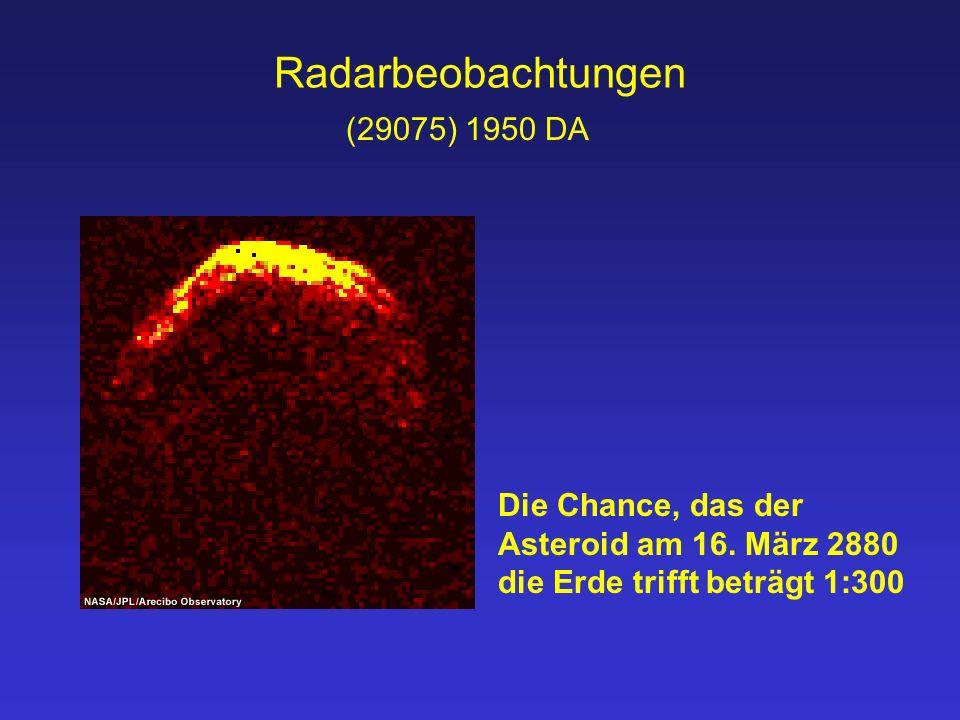 Radarbeobachtungen (29075) 1950 DA Die Chance, das der Asteroid am 16.