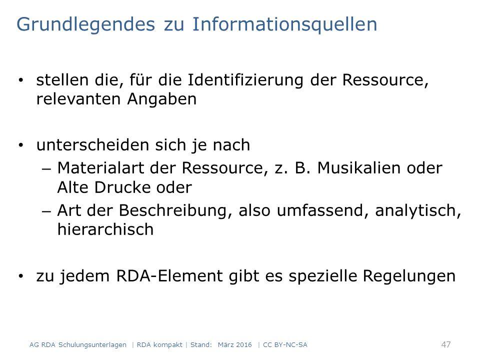 stellen die, für die Identifizierung der Ressource, relevanten Angaben unterscheiden sich je nach – Materialart der Ressource, z.