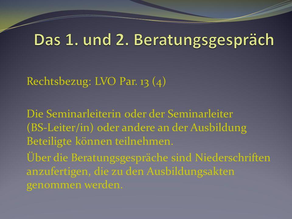 Rechtsbezug: LVO Par.