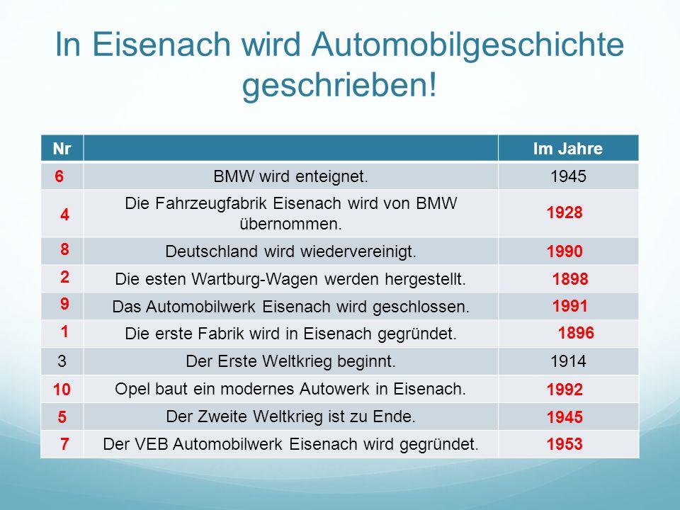 In Eisenach wird Automobilgeschichte geschrieben.