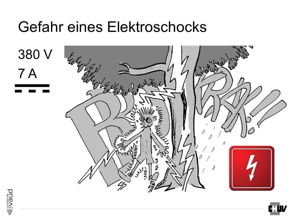 Gefahr eines Elektroschocks 380 V 7 A