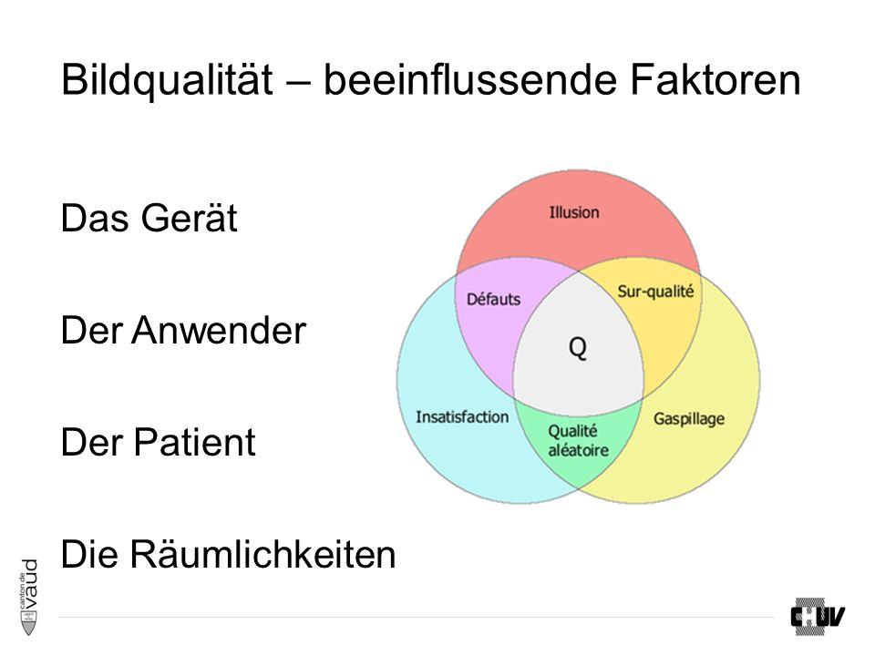 Bildqualität – beeinflussende Faktoren Das Gerät Der Anwender Der Patient Die Räumlichkeiten