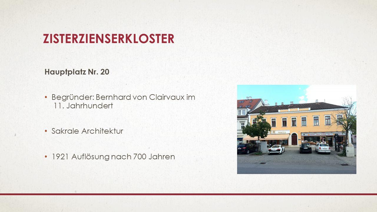 HEILIG-GEIST-KLOSTER Schubertgasse Nr.2, Nr.