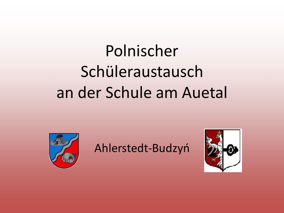 Polnischer Schüleraustausch an der Schule am Auetal Ahlerstedt-Budzyń