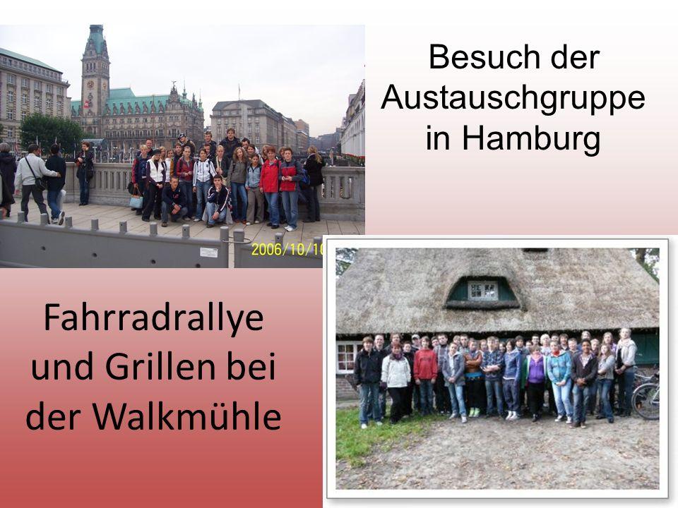 Fahrradrallye und Grillen bei der Walkmühle Besuch der Austauschgruppe in Hamburg