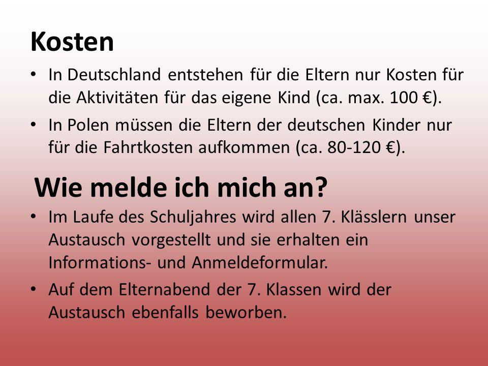 Kosten In Deutschland entstehen für die Eltern nur Kosten für die Aktivitäten für das eigene Kind (ca.