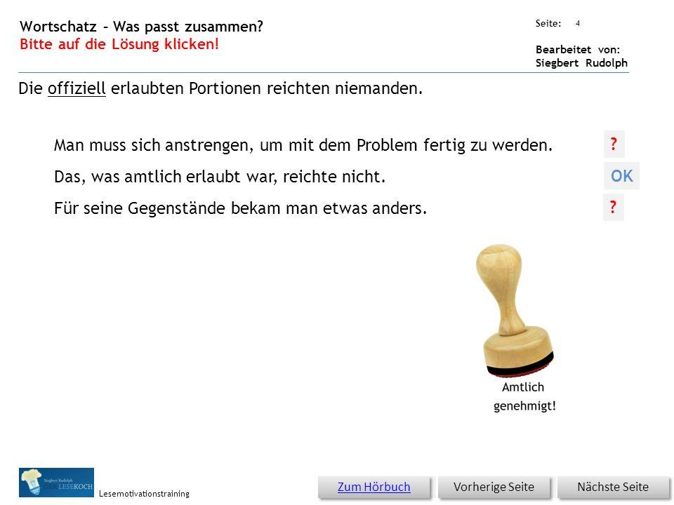Übungsart: Seite: Bearbeitet von: Siegbert Rudolph Lesemotivationstraining 3 16 Hamstern – bitte klicken.