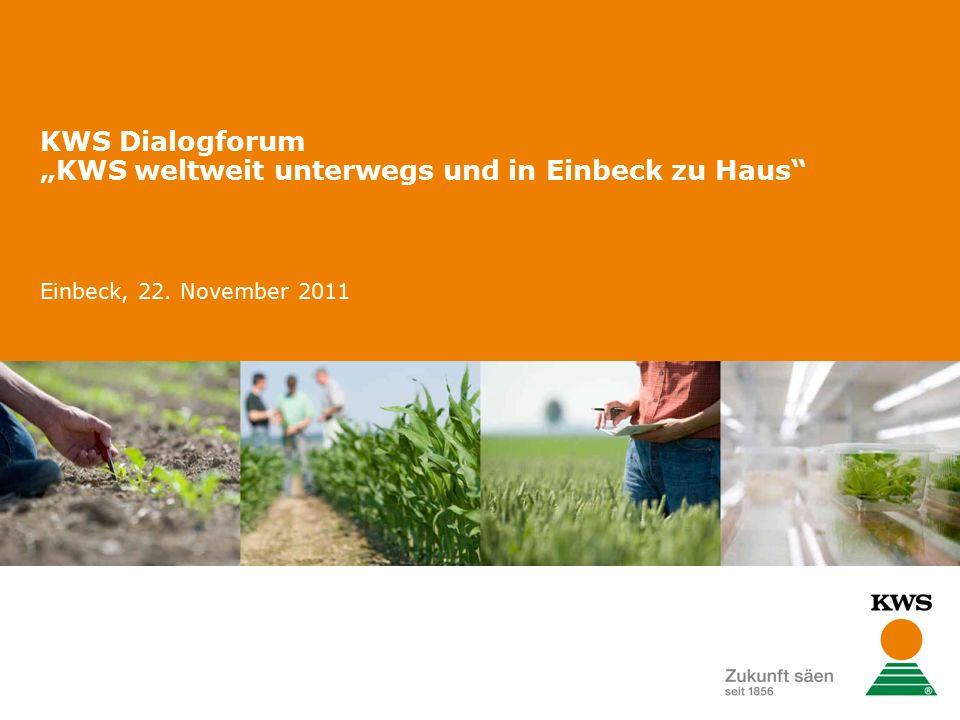 """KWS Dialogforum """"KWS weltweit unterwegs und in Einbeck zu Haus Einbeck, 22. November 2011"""