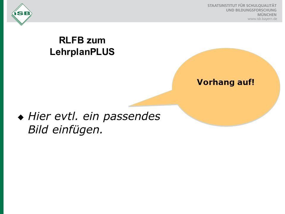 RLFB zum LehrplanPLUS Vorhang auf!  Hier evtl. ein passendes Bild einfügen.
